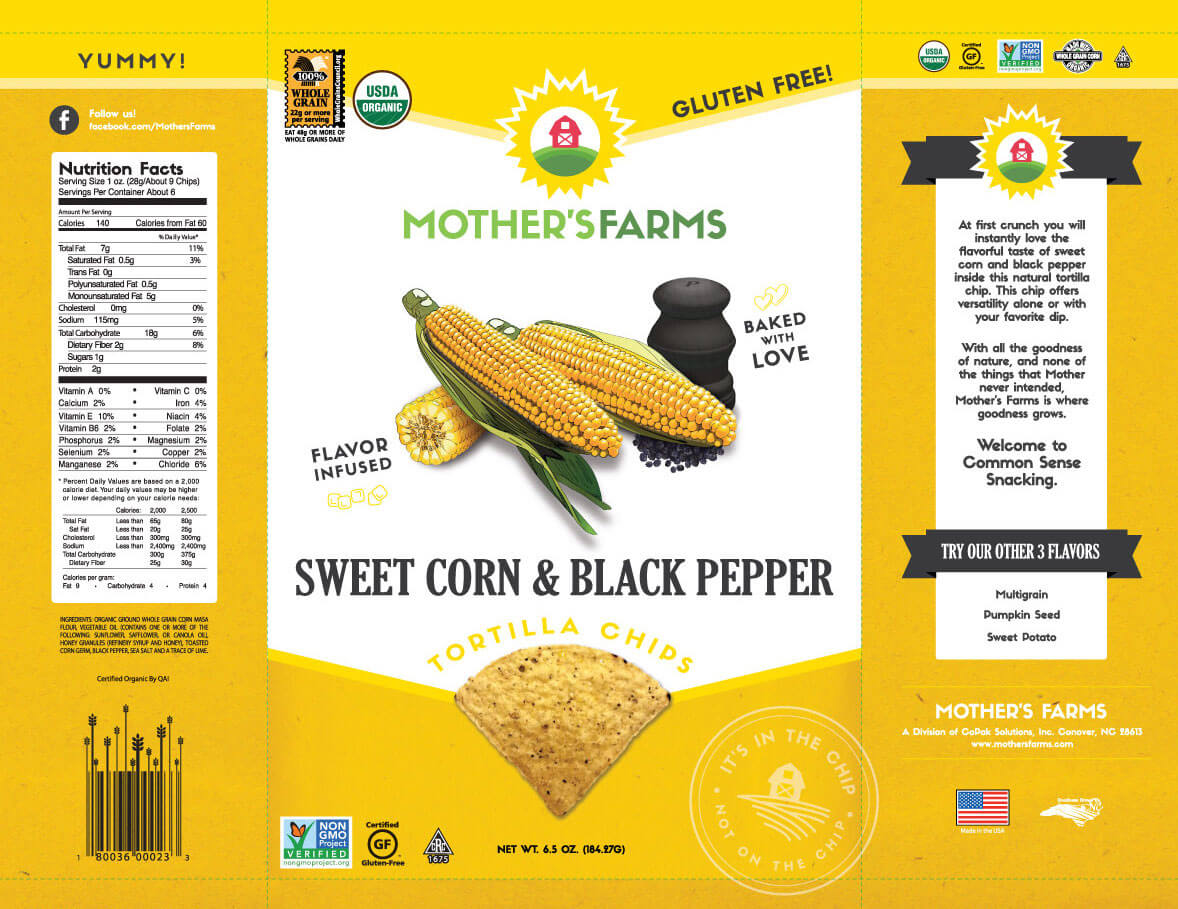 Mother's Farms Sweet Corn & Black Pepper